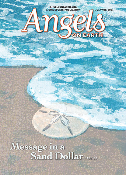 The cover of the July-August 2021 issue of Angels on Earth magazine