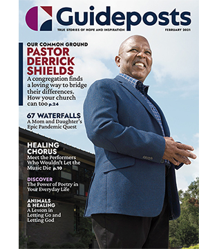 Pastor Derrick Shields on the cover of the February 2021 issue of Guideposts