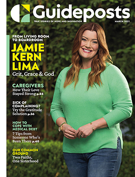 Jamie Kern Lima on the cover of the March 2021 Guideposts