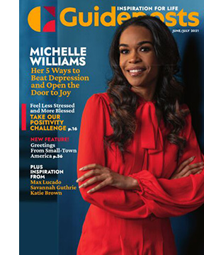 Michelle Williams on the cover of the June-July 2021 Guideposts