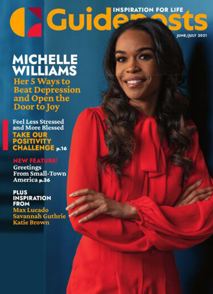 In her cover story for the June-July 2021 issue of Guideposts, Michelle Williams shares five actions that helped her cope with depression.