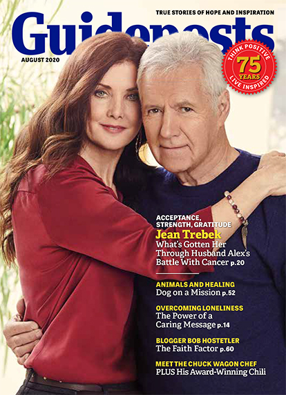 In her cover story for the August 2020 issue of Guideposts, Jean Trebek shares how faith, family and friends have seen her and her husband, Alex, through their greatest challenge.
