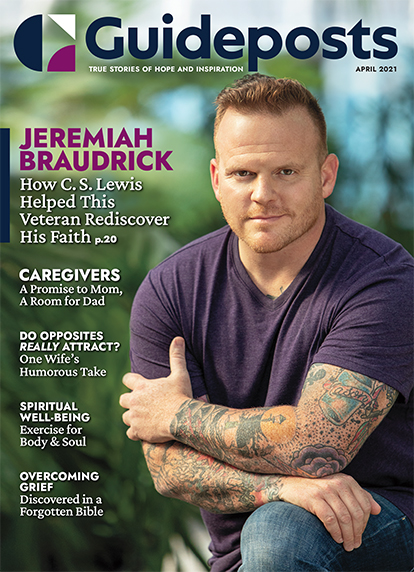 In his cover story for the April 2021 issue of Guideposts, Marine veteran Jeremiah Braudrick shares how the works of author C. S. Lewis helped him embrace God's forgiveness.