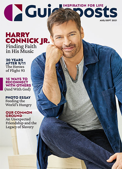 In his cover story for the Aug-Sept 2021 issue of Guideposts, Harry Connick Jr. shares how the pandemic opened the door to something deeper in his music and in his soul.