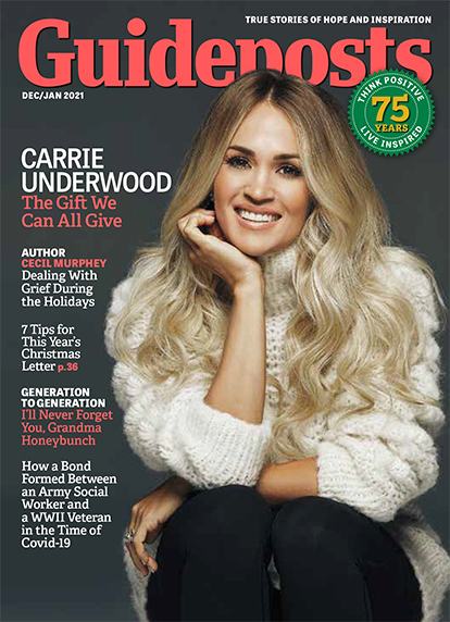 In her cover story for the December-January 2021 issue of Guideposts, award-winning country singer Carrie Underwood reveals how her small-town upbringing shaped her faith, career and family life.
