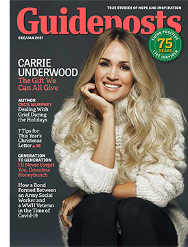 Carrie Underwood on the cover of the Dec-Jan 2021 issue of Guideposts