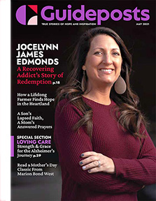 Jocelynn James Edmonds on the cover of the May 2021 issue of Guideposts