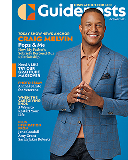 Craig Melvin on the cover of the Oct-Nov 2021 Guideposts
