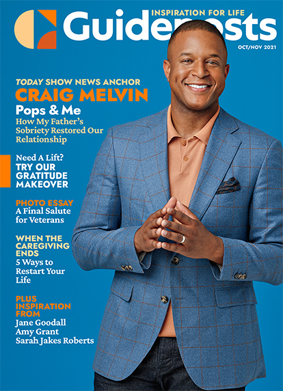In his cover story for the Oct-Nov 2021 issue of Guideposts, Today show news anchor Craig Melvin shares how, when his father stopped drinking at age 67, he got acquainted with the man he barely knew.