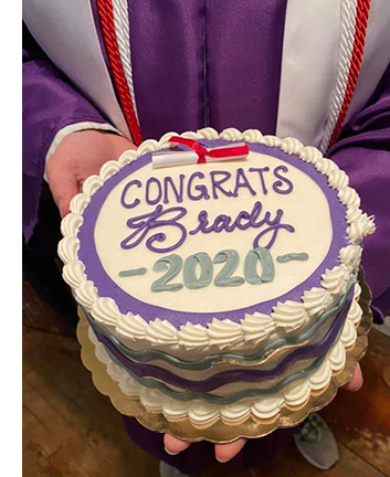 One of Bill's graduation cakes