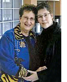 Pamela Haskin and her mother, Lucille