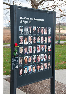 A Plaque Honoring the Crew and Passengers of Flight 93