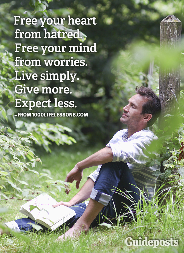 Happiness Rules hatred worries give expect less