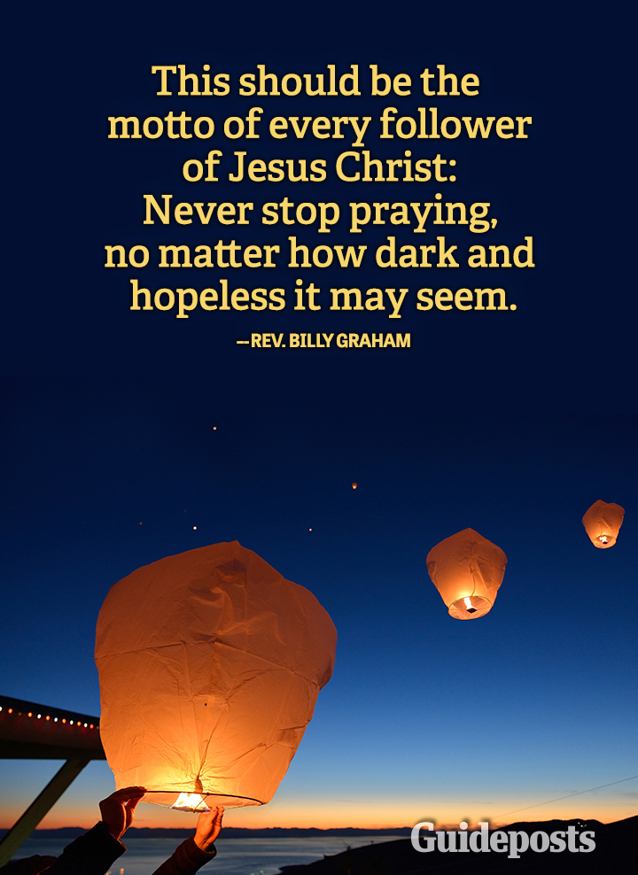 prayer quote Billy Graham motto follower Jesus Christ never stop praying