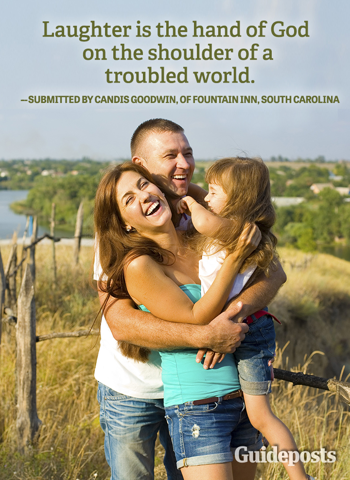 Happiness Quote Laughter God troubled world Candis Goodwin