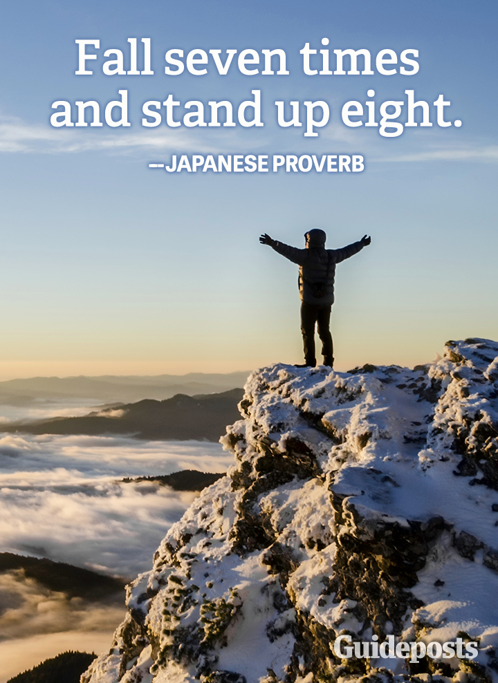 Perseverance Quote Japanese Proverb Fall Seven Times