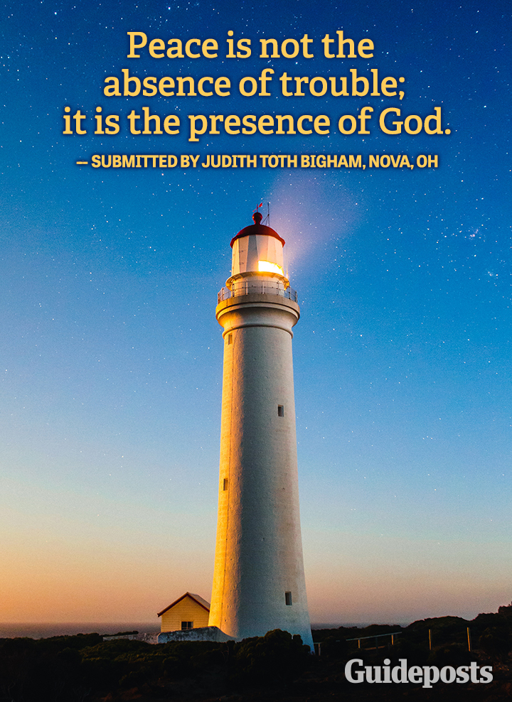Quote Peace is the Presence of God  Judith Toth Bigham