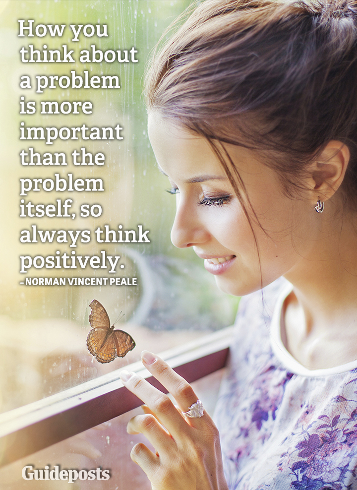 Positive thinking quote Norman Vincent Peale problems