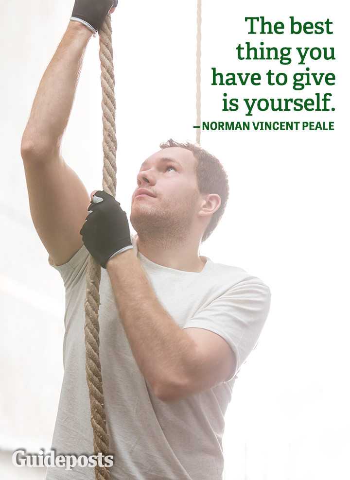 Norman Vincent Peale Quote Best Thing Give Yourself