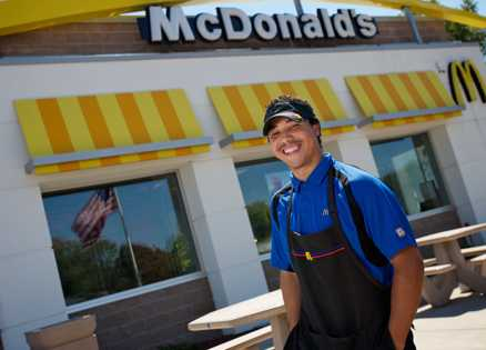Joseph Embry brings hope and happiness to McDonald's customers