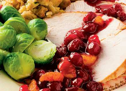 Side dish: Pomegranate Cranberry Sauce