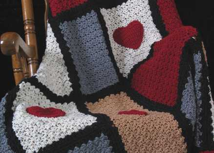A half-finished afghan helps a busy woman find time for prayer and devotion.