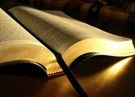 Picture of an open Bible
