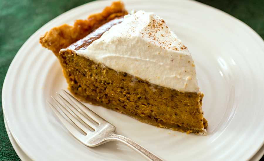 A slice of Beth's Chai-Spiced Pumpkin Pie