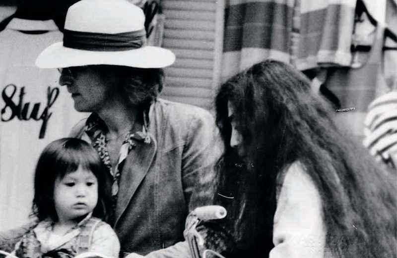 John Lennon and Yoko Ono with their son, Sean