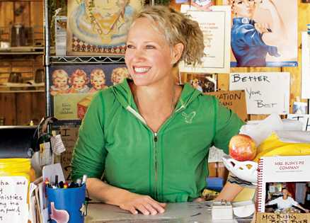 Marilyn Bush at the counter of her bakery