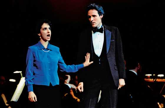 Rick Hamlin and his friend Joanne onstage at Carnegie Hall
