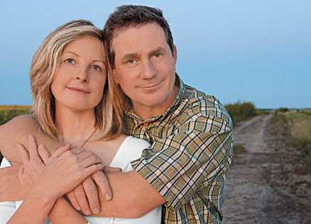 Joel Sartore and wife Kathy whose illness got him  to rethink his priorities.
