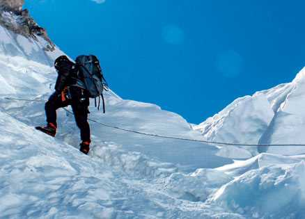 Brian Dickinson had his faith restored on the summit of Mt. Everest.