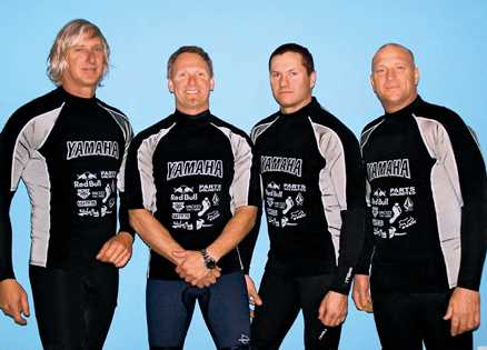 Mark Coxson's pals Mike, Ken, Bob and Tony jet ski for a cause.