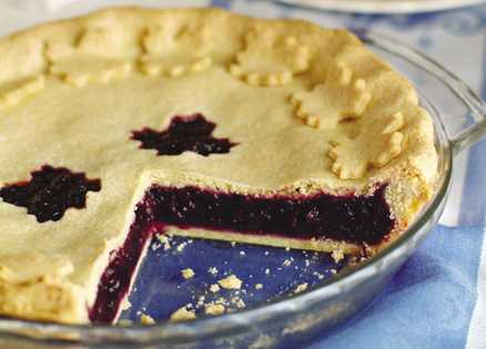 Dessert recipes: Wild Blueberry–Maple Pie with a Cornmeal Crust