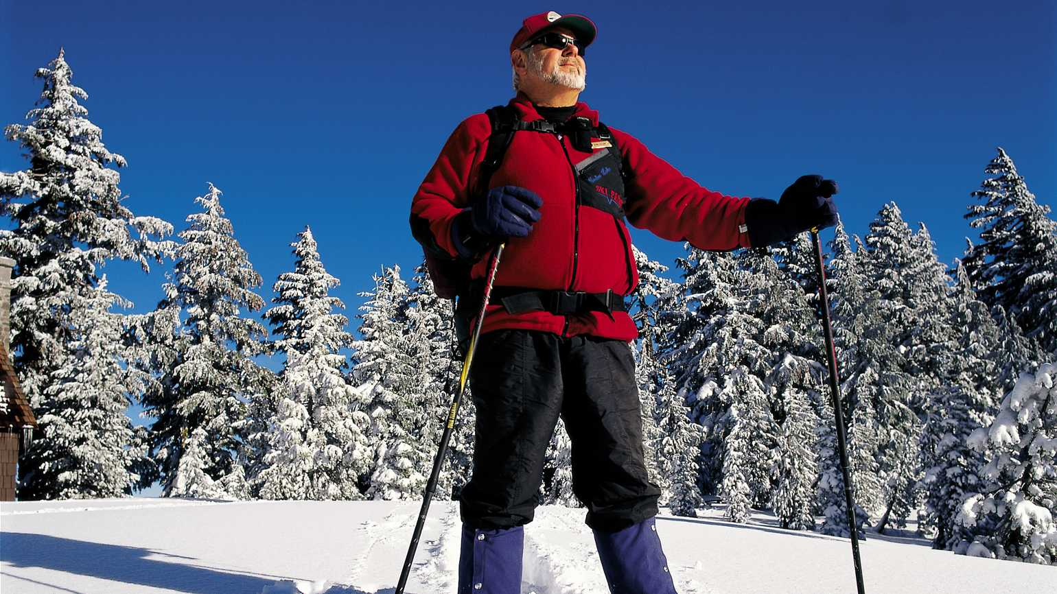 Bill skiing on the slopes.
