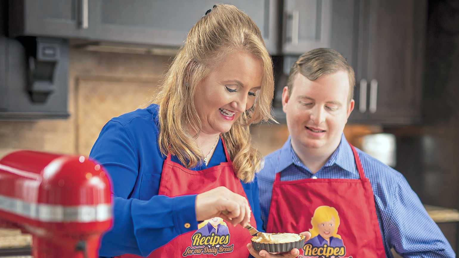 Diane and her trusty sous-chef, her son Caleb