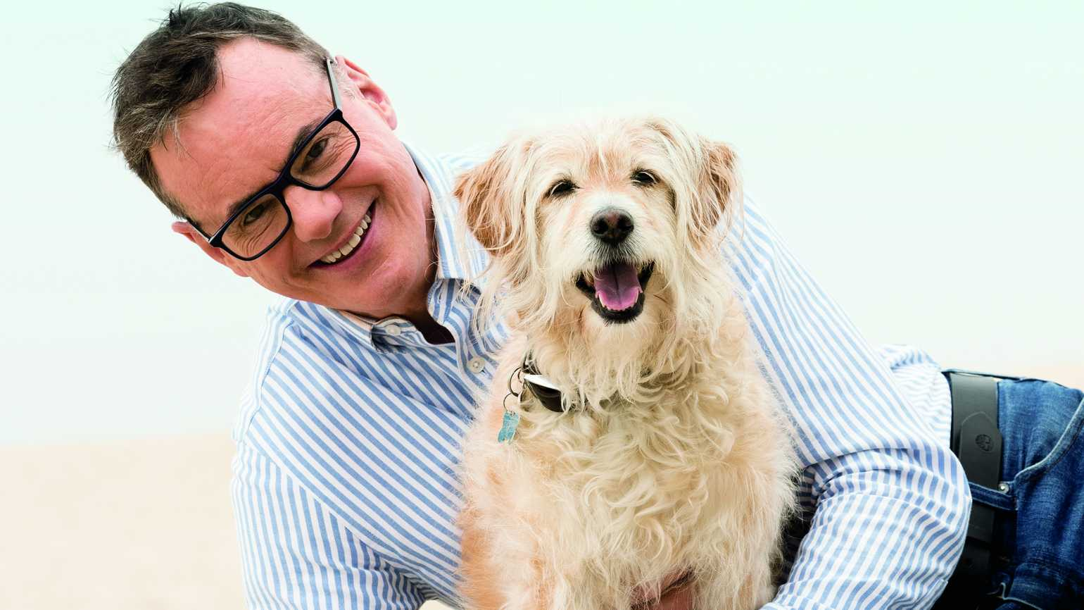 W. Bruce Cameron with his dog Tucker