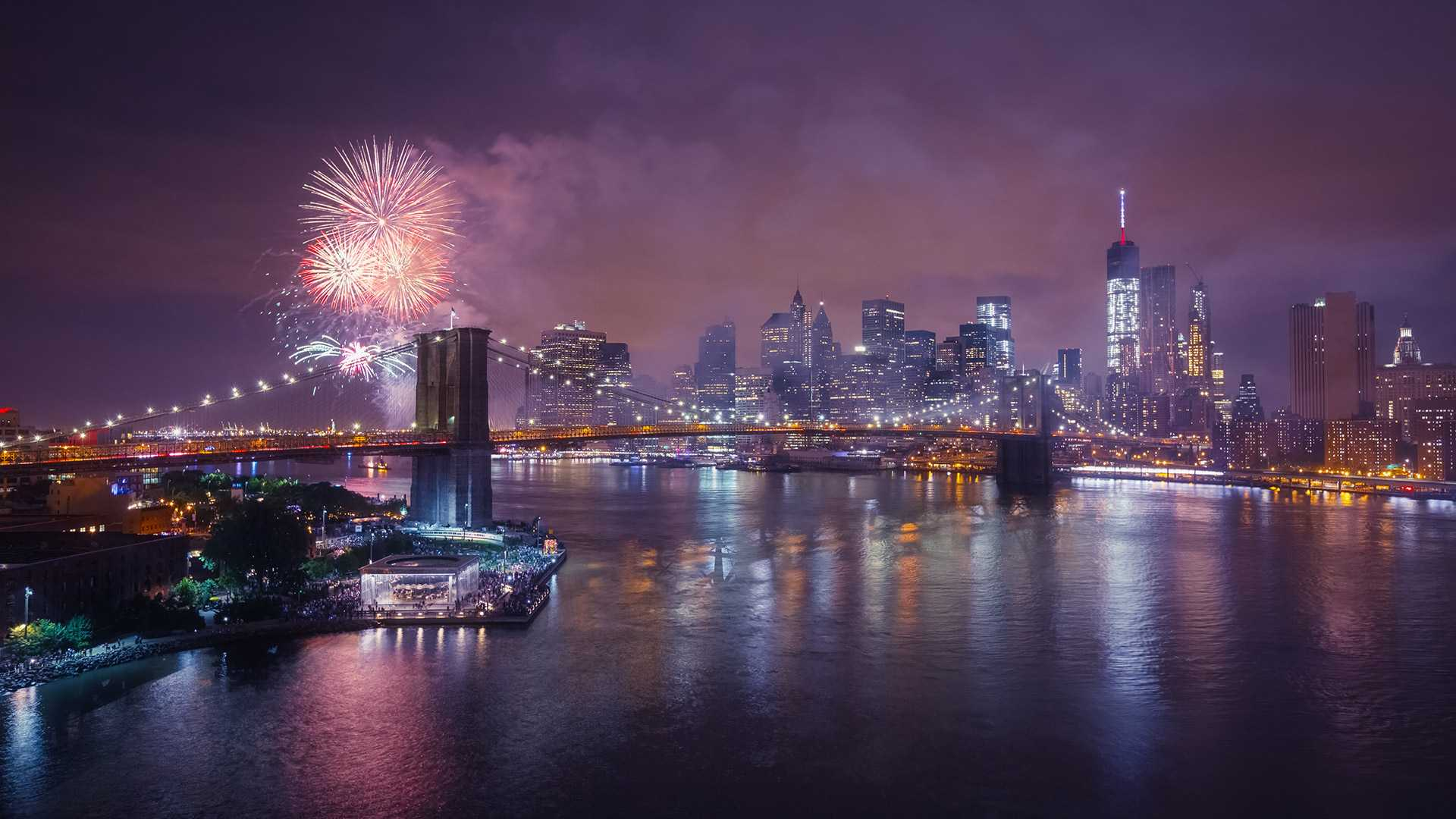 4th of July fireworks over NYC's East River