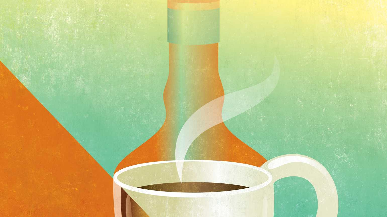 A steaming coffee cup; Illustration by Traci Daberko