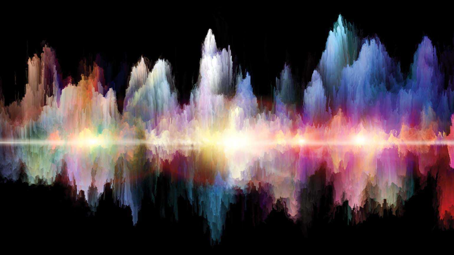 Colorful sound waves; Getty Images