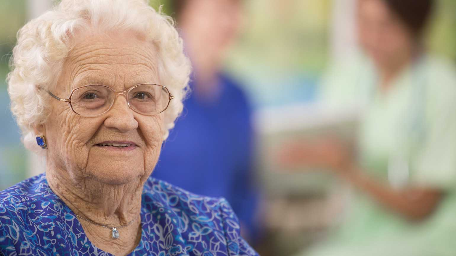 A woman in her golden years.