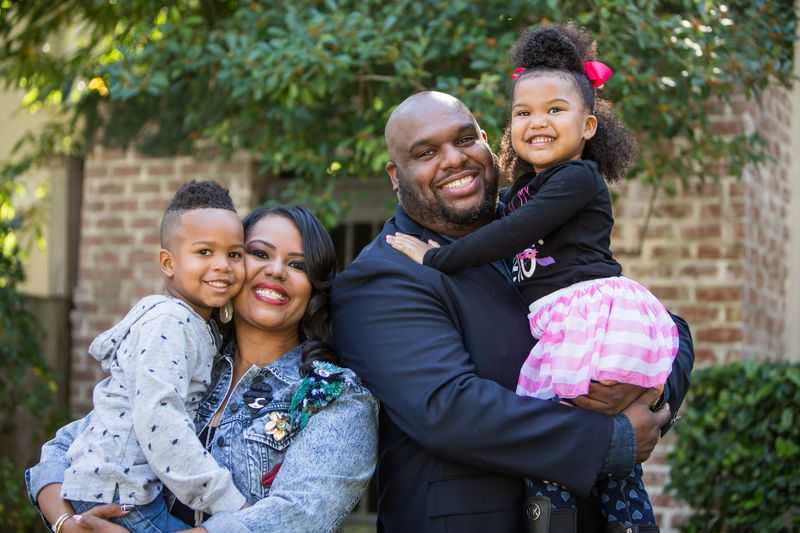 Pastor John Gray and his family
