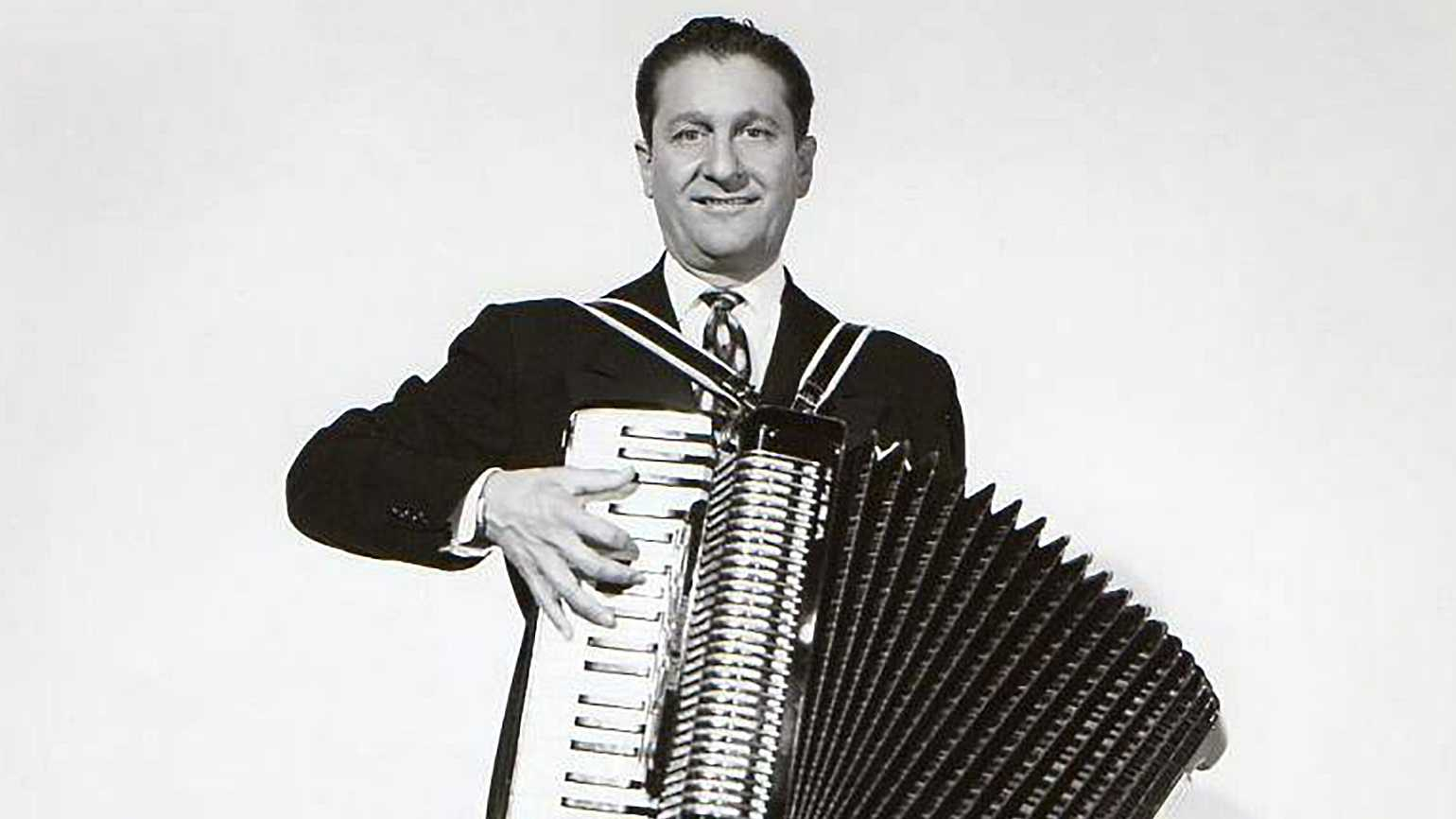 Lawrence Welk with his accordian