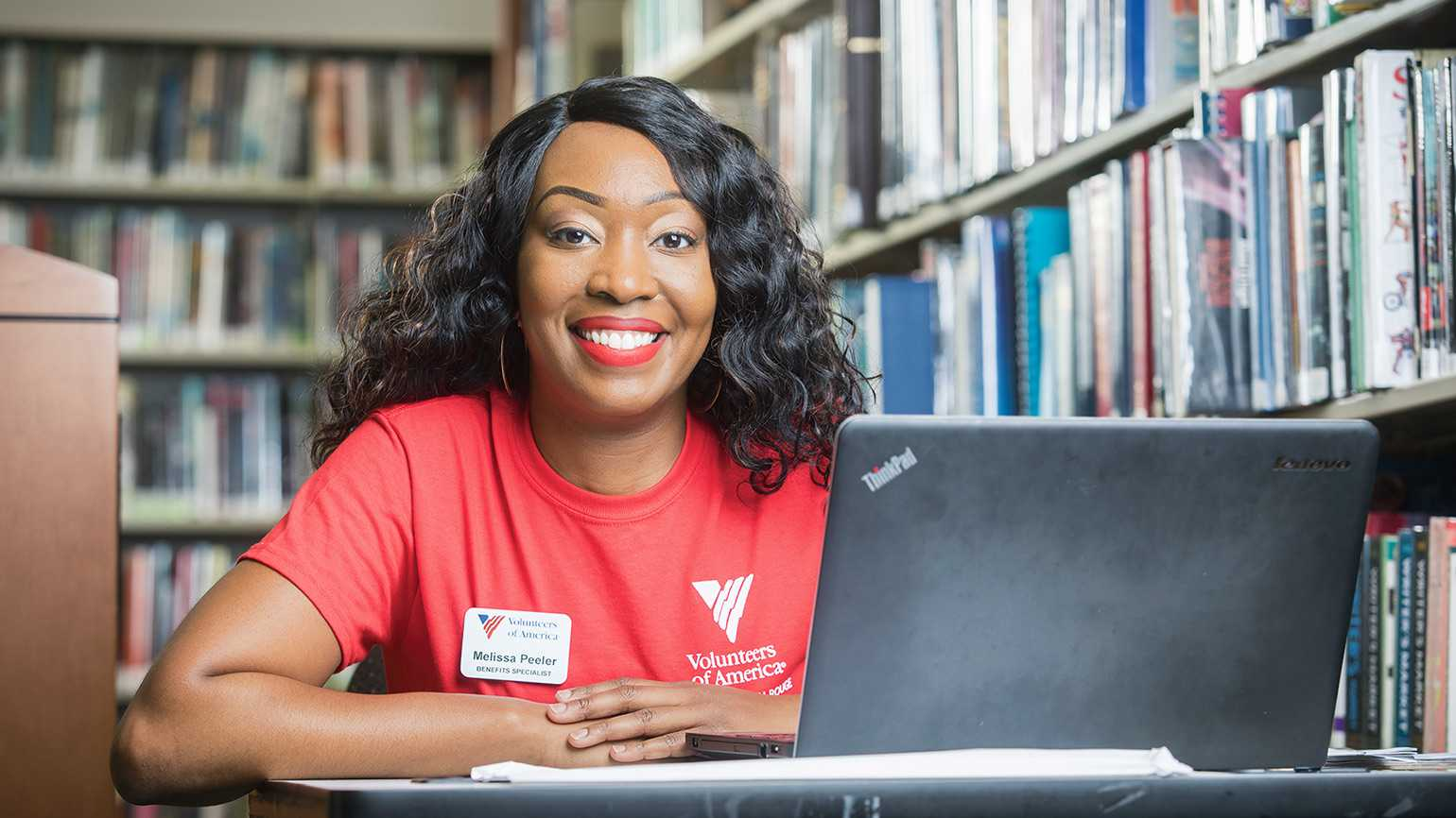 Melissa Peeler, a benefits specialist at Volunteers of America Greater Baton Rouge
