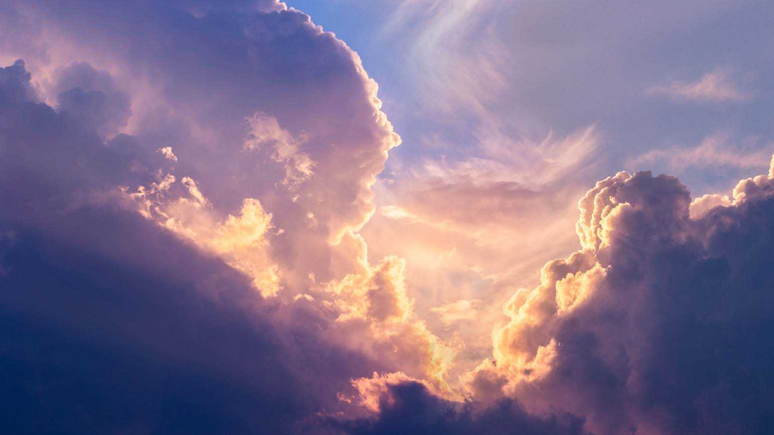 Light peeking through clouds; Getty Images