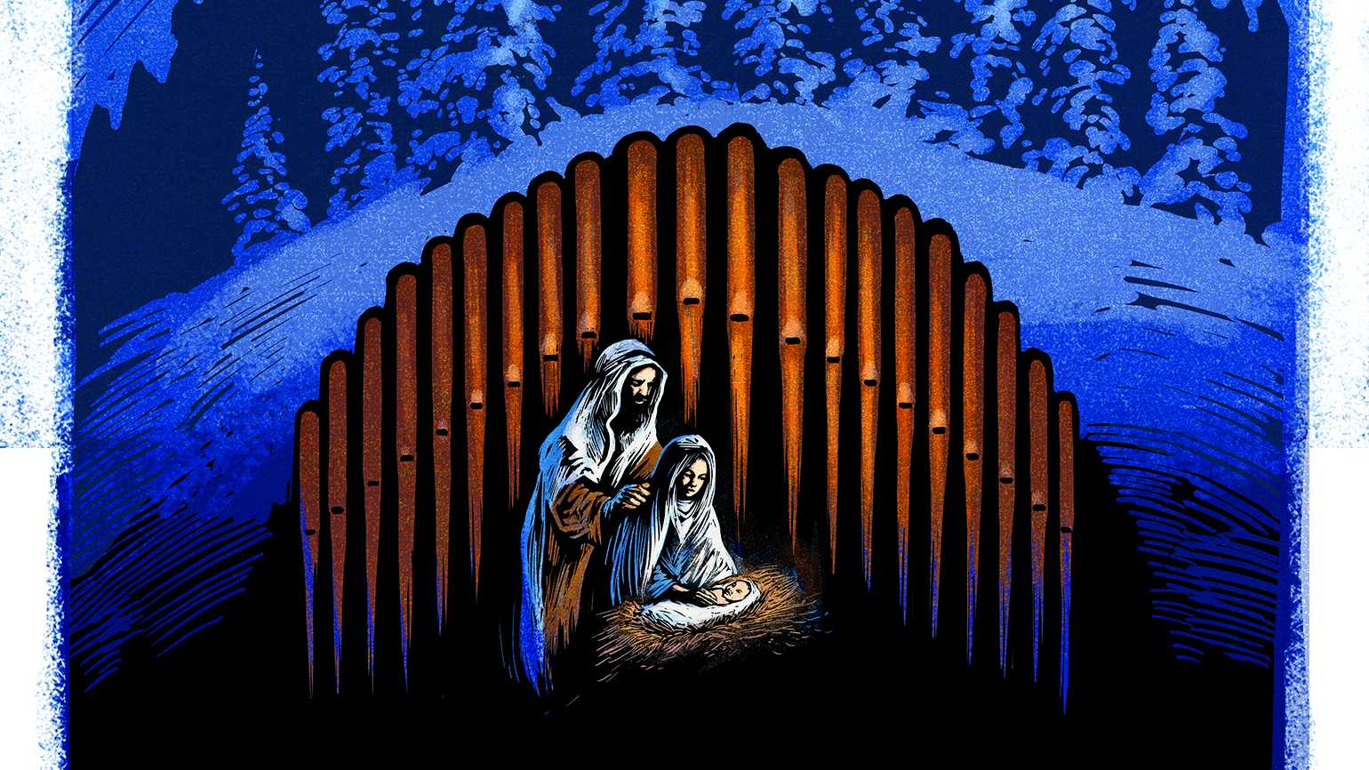 Illustration of Nativity Scene