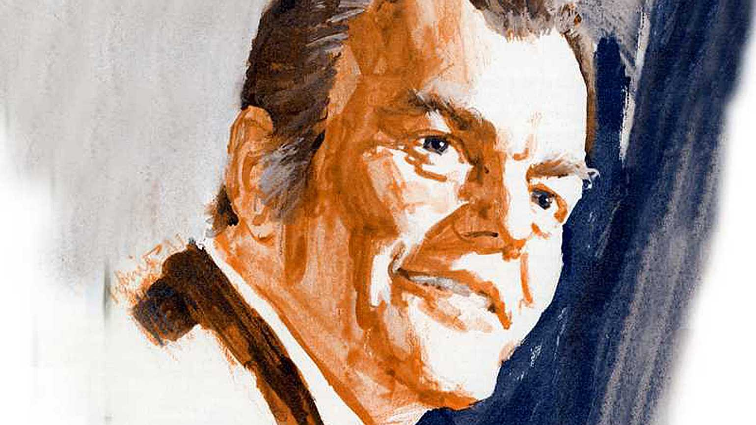 An artist's portrait of Paul Harvey