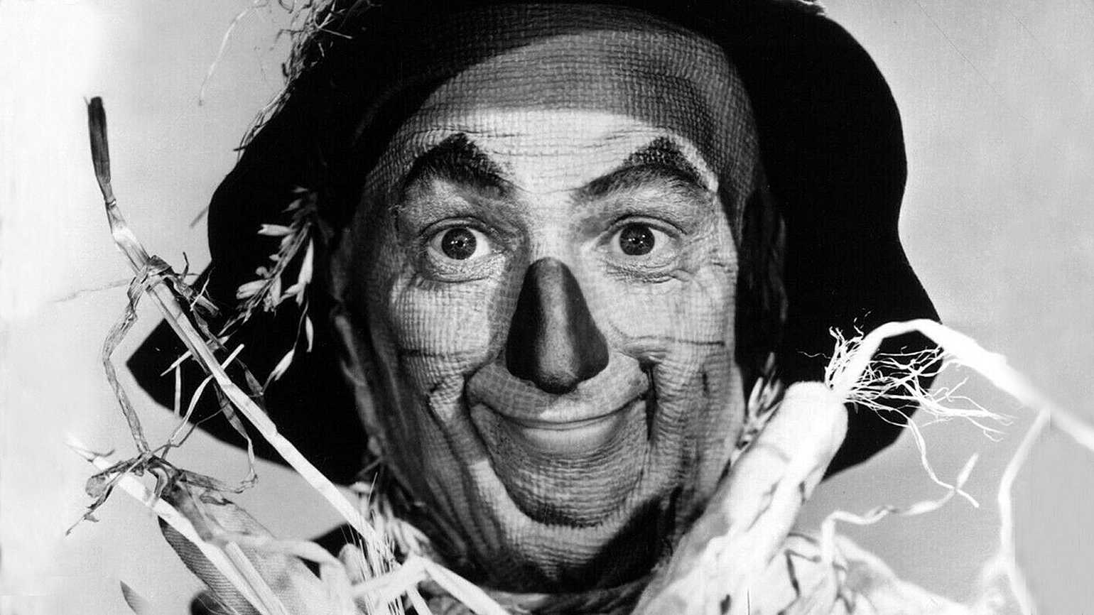 Ray Bolger in his most famous role, the Scarecrow from The Wizard of Oz
