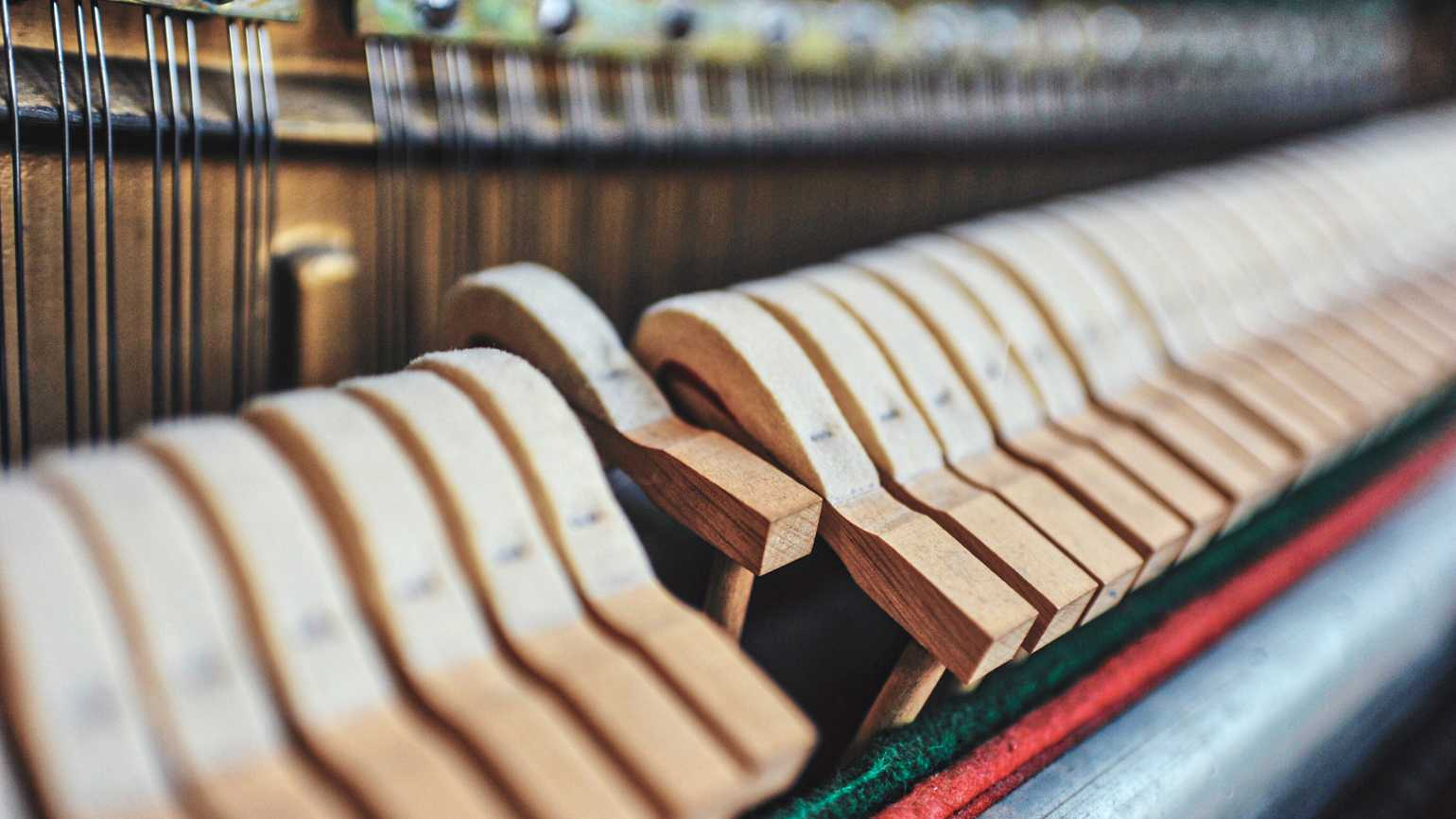 The inside of a piano; Photo credit: NIAN LIU/GETTY IMAGES